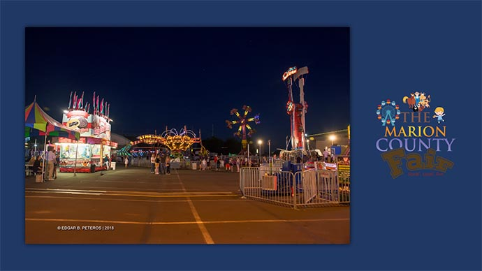 Marion County Fair - carnival at night