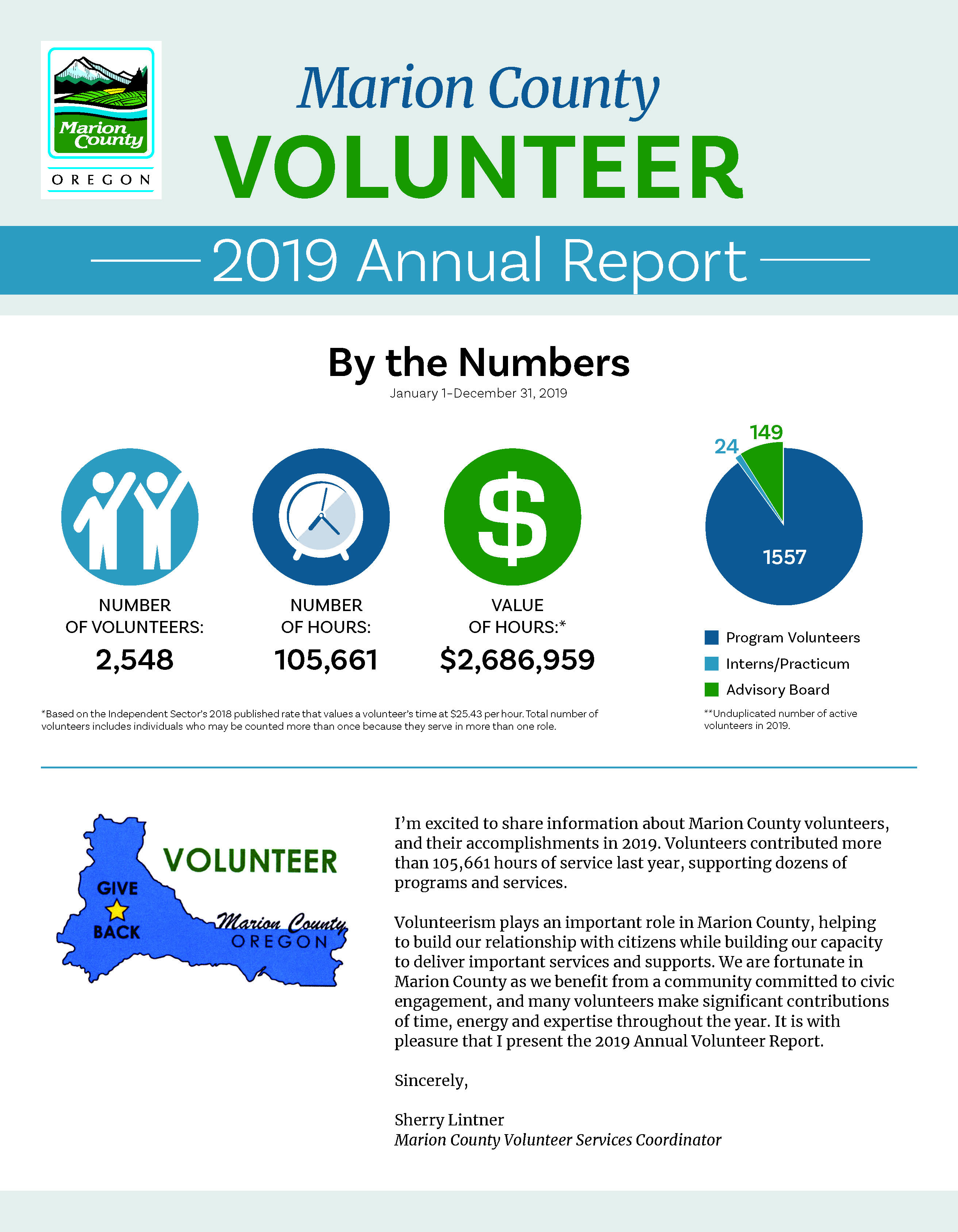Marion County 2019 Volunteer Report