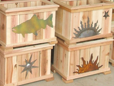 handmade wooden planter boxes