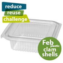 Reduce Reuse Challenge, Feb. Plastic Clamshell Packaging