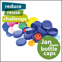 Reduce Reuse Challenge January, Plastic Bottle Caps
