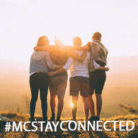 3mcstayconnected campaign with four people watching a sunset
