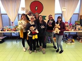 Volunteers at Toy Swap