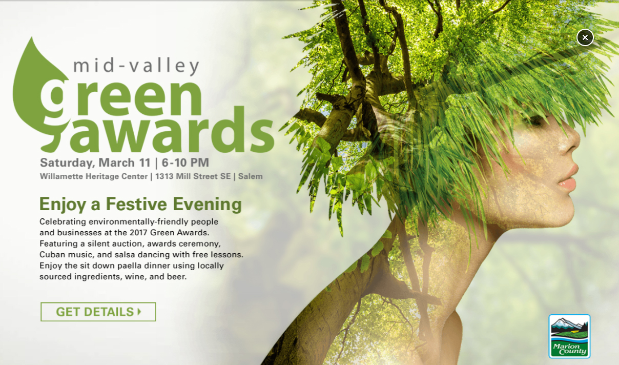 2017 Green Awards Advertisement Poster