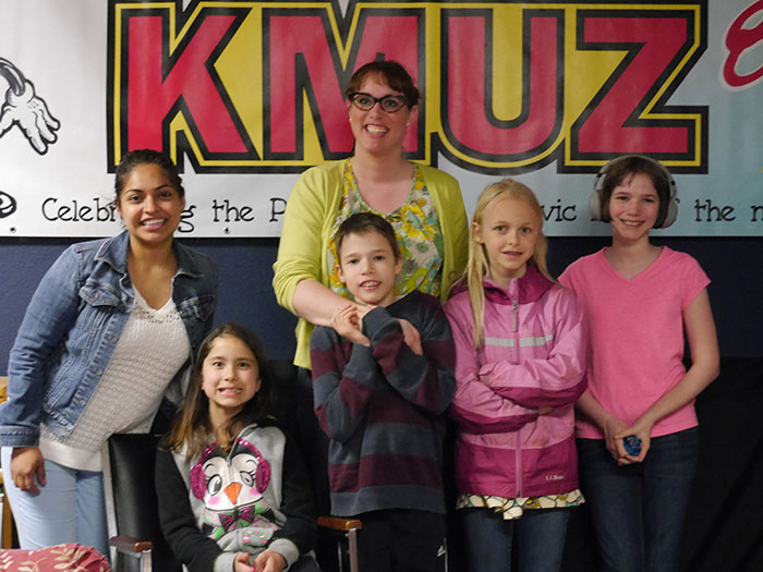 Griselda Puga and sons and daughters of county employees on Take Your Kid to Work Day