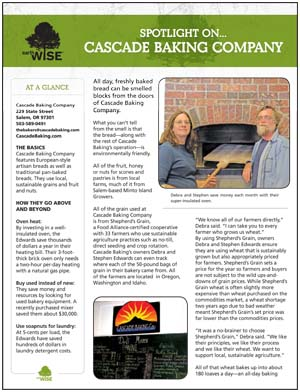 Cascade Baking Case Study Sheet