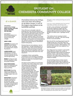 Chemeketa Community College Case Study Sheet