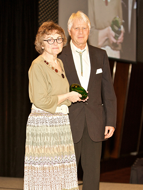 recycler of the year: dana canning (jeanne collins accepting on her behalf)