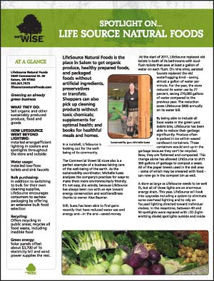Lifesource Natural Foods Case Study Sheet