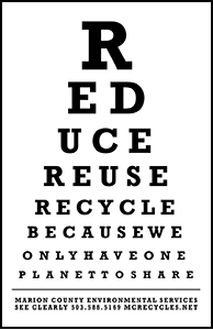 3R eye chart that mentions the three Rs.