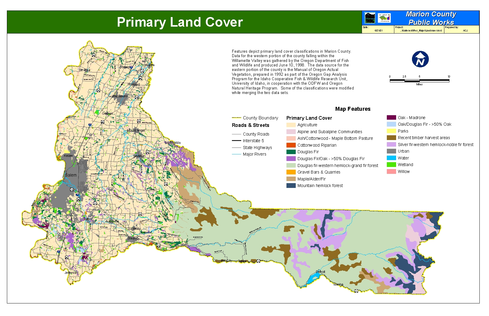 Primary Land Cover County View