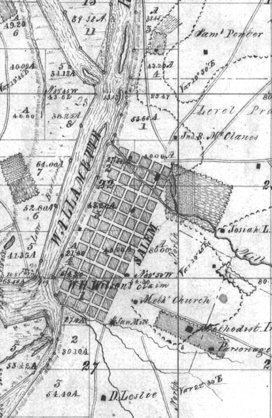 Photo of old survey map