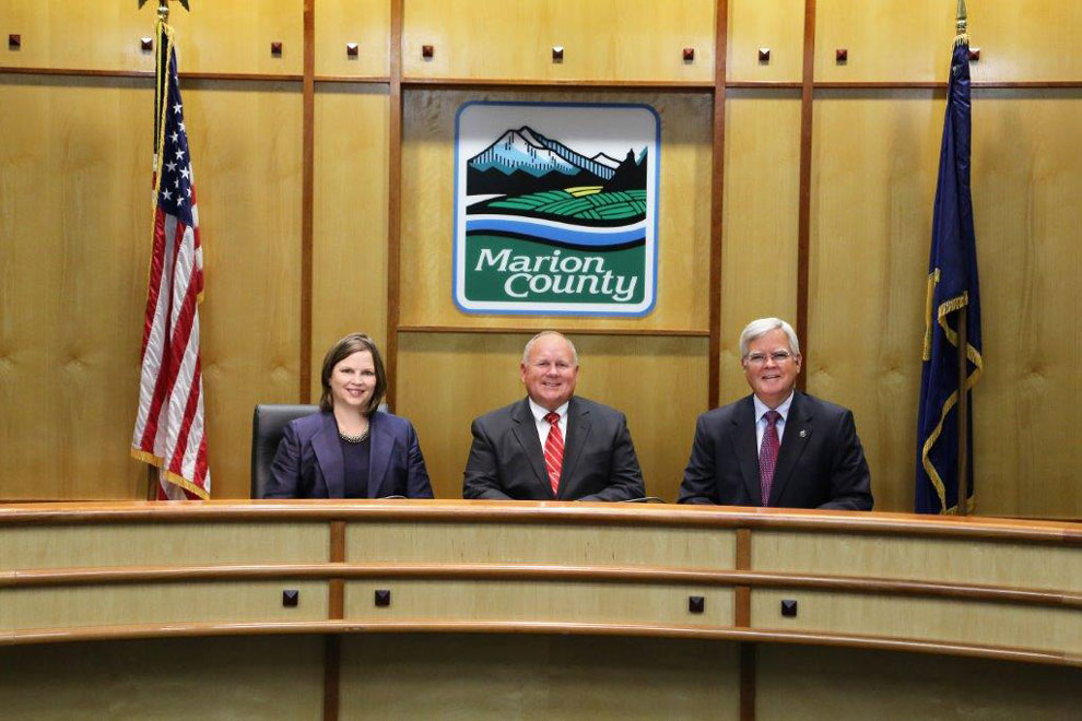 Commissioners Janet Carlson, Sam Brentano, and Kevin Cameron